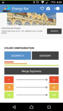 Nastavení barev pro segmenty