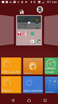 Přidávání widgetů