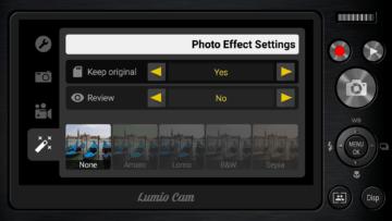 Photo Effect Settings