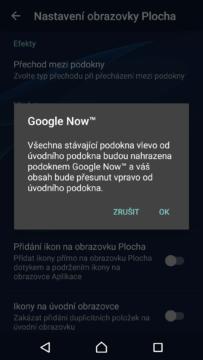 Google Now je nutné povolit v nastavení