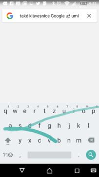 Klávesnice Google umí psaní gesty