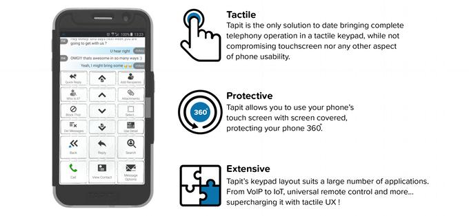 Obal chrání telefon a usnadňuje práci s ním