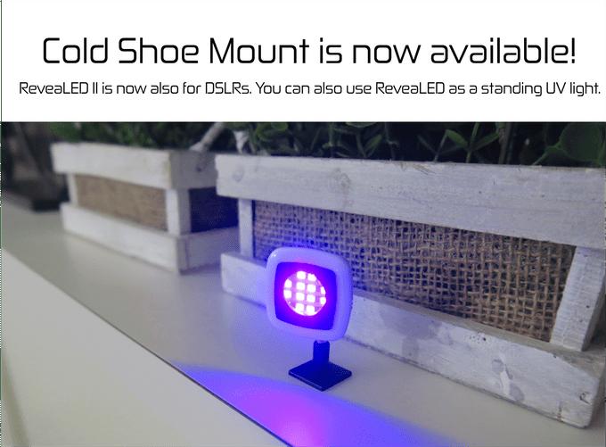 ReveaLED II je také možné použít jako samostatně stojící UV lampičku