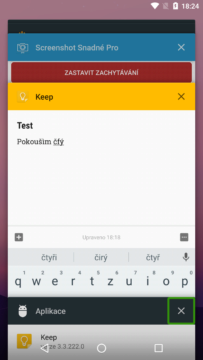 Psaní s klávesnicí v režimu splitscreen trochu omezuje rozhled