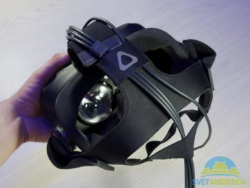 HTC Vive – konstrukce, popruhy 2