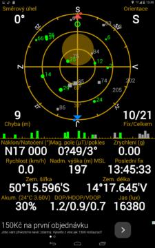 Prestigio MultiPad Consul 7008 4G -  GPS satelity