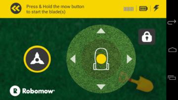 Robomow - Aplikace - režim dálkového ovládání