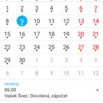 Sony Xperia M4 Aqua – kalendář