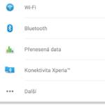 Sony Xperia M4 Aqua – menu nastavení