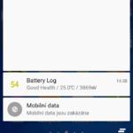 Sony Xperia M4 Aqua –  notifikační lišta (1)