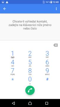 Sony Xperia X dialer