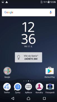 Sony Xperia X launcher