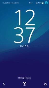 Sony Xperia X lockscreen