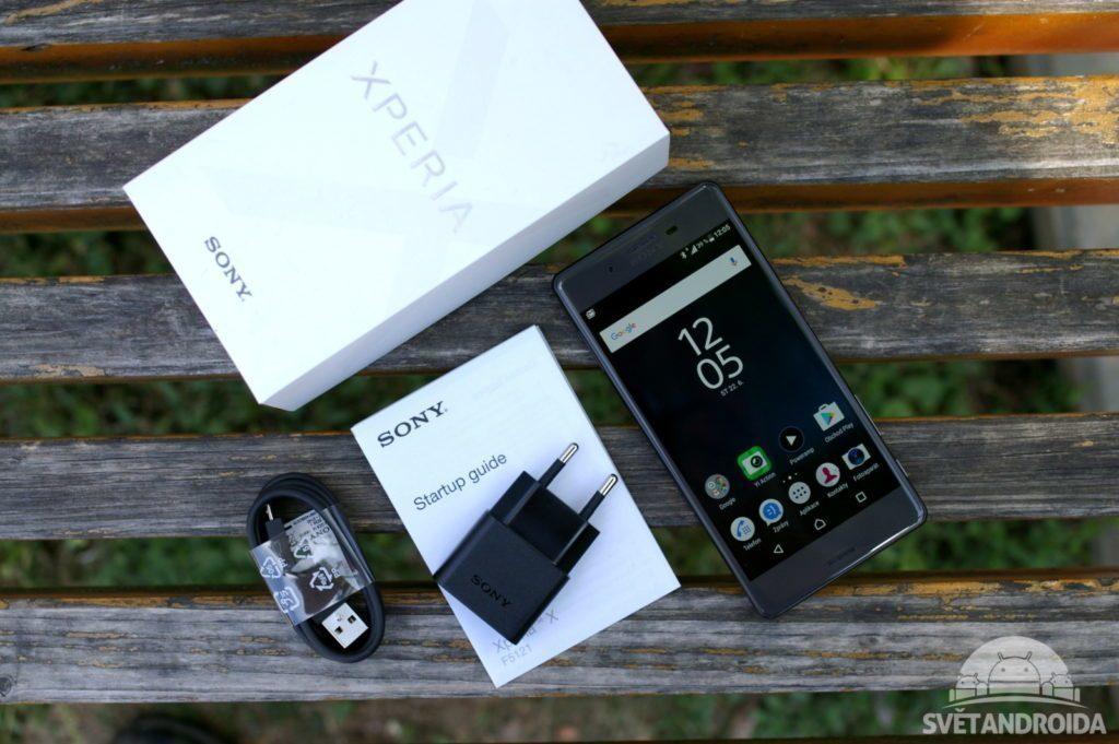 Sony Xperia X obsah balení