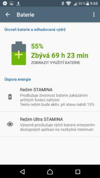 Sony Xperia X stamina