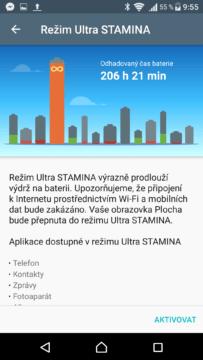 Sony Xperia X ultra stamina