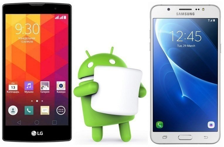 android marshmallow lg samsung
