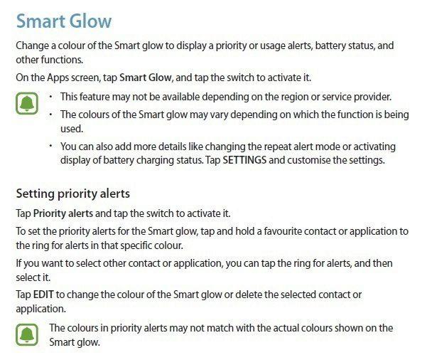 Uživatelská příručka: sekce Smart Glow