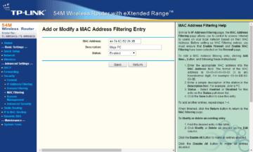Filtrování MAC adres