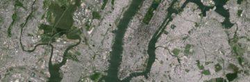 New York: staré satelitní snímky