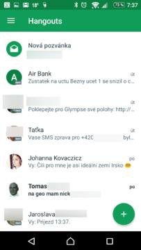 SMS zprávy jsou nyní v samostatných vláknech