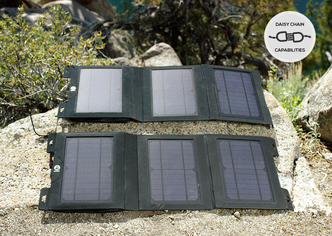Solární panely v rozloženém stavu
