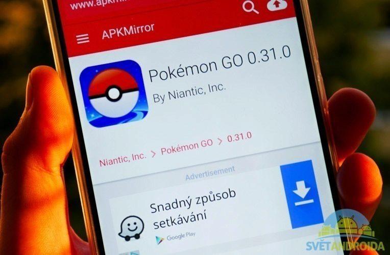 Aktualizace Pokemon Go 0.31.0-1
