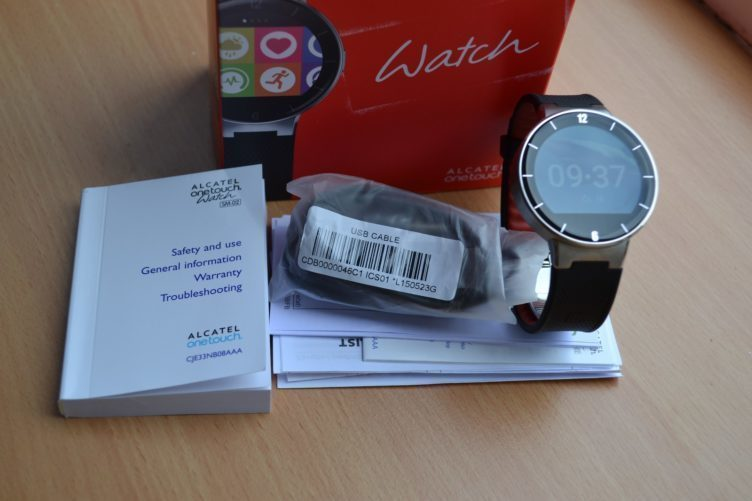 Alcatel One Touch Watch -  obsah balení
