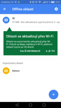 Google Mapy – trik, offline 1