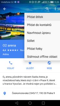 Google Mapy – trik, štítky 1