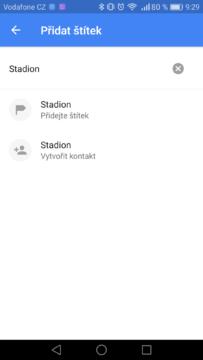 Google Mapy – trik, štítky 2