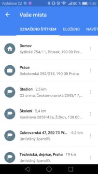 Google Mapy – trik, štítky 3