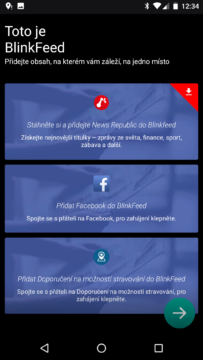 HTC Home Sense – BlinkFeed