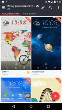 HTC Home Sense – vyber motivu 2