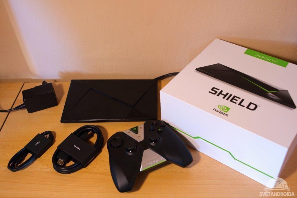 Nvidia Shield TV obsah balení