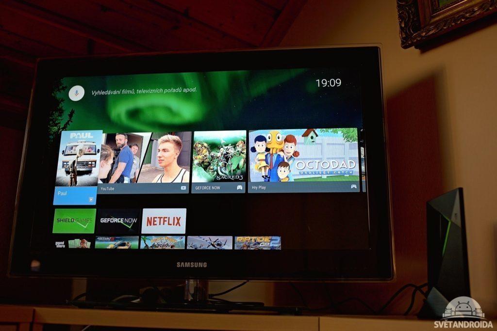 Nvidia Shield TV + televize