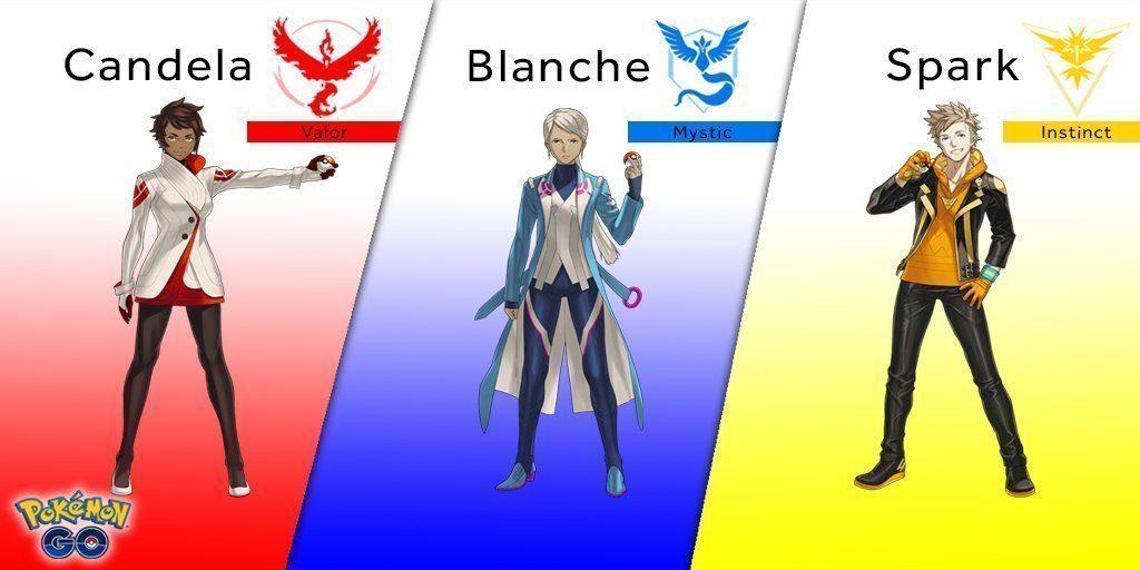 Pokémon Go známe lídry týmů