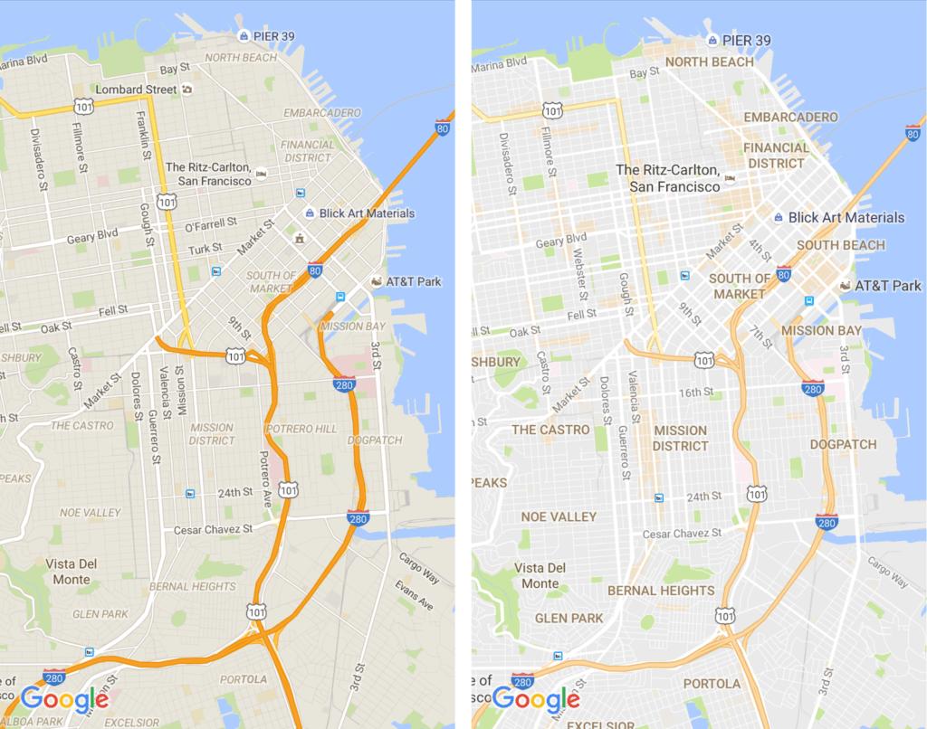 Mapy Google s čistším vzhledem