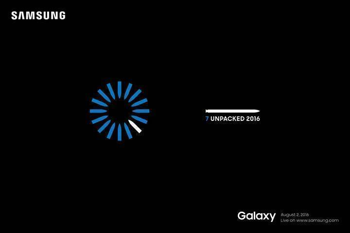 Samsung Galaxy Note 7 press-invite