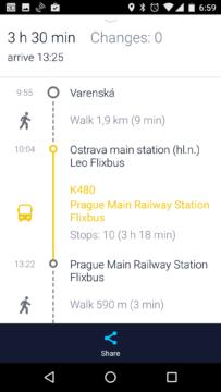 Trasa s veřejnou dopravou