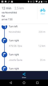 Navigační pokyny