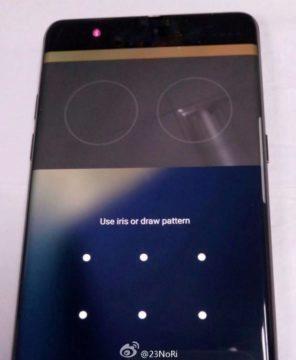 Telefon Samsung Galaxy Note – iris scanner