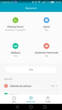 Xiaomi Mi Band 2 – aplikace, nastavení 2