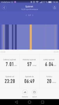 Xiaomi Mi Band 2 – aplikace, statistiky 4