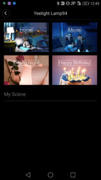 Xiaomi Yeelight Lamp scene
