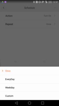 Xiaomi Yeelight Lamp schedule