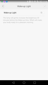 Xiaomi Yeelight Lamp wakeup