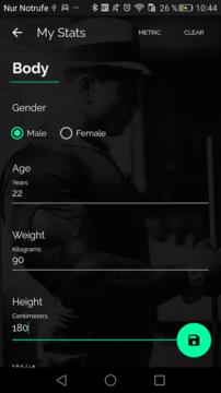 android aplikace fitness nej