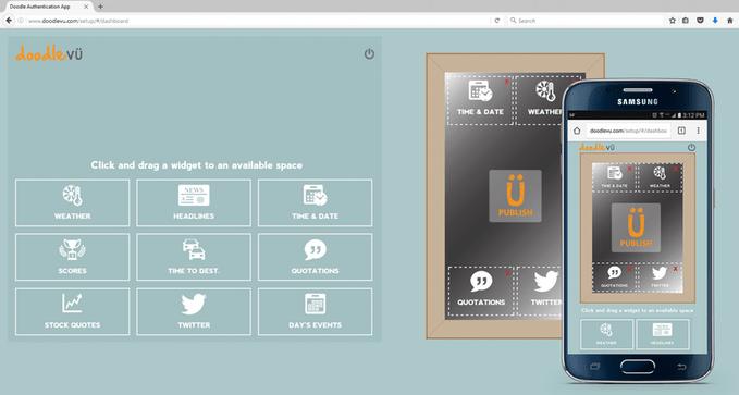 Widgety DoodleVU lze nastavit přes web nebo z mobilní aplikace