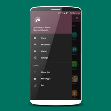 menu aplikace android